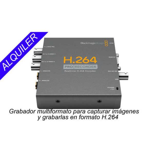 alquiler pro recorder h264