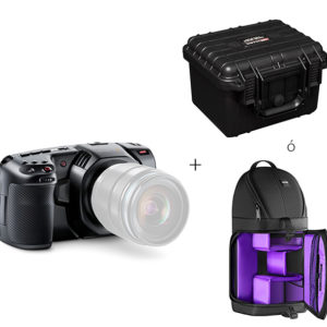 PACK Blackmagic Pocket Cinema Camera 4K + Maleta Mark 1233 ó Mochila resistente al agua