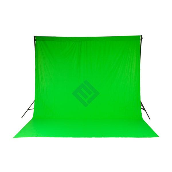 Fondo chromakey cortina verde 3 x 3.5M