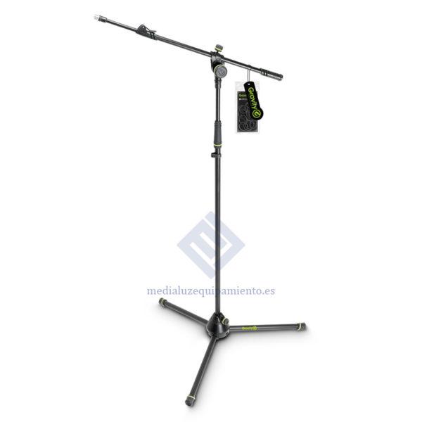 Pie de micrófono con trípode y brazo jirafa telescópico de 2 puntos de ajuste Gravity MS 4322 B