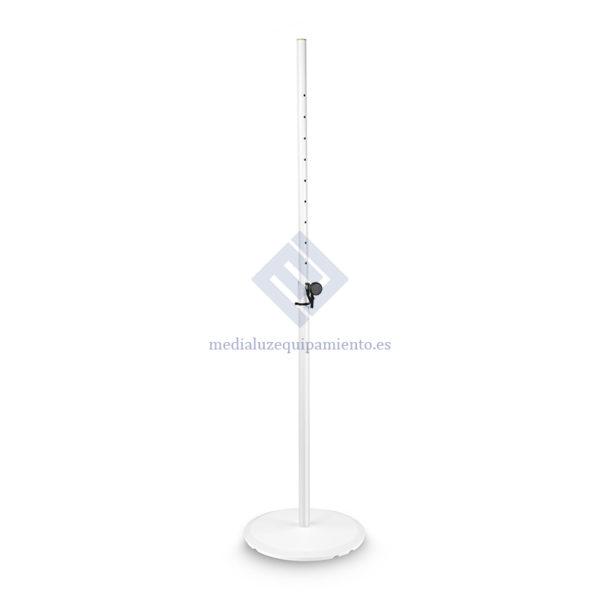 Soporte de altavoz con base y placa de peso de hierro Blanco, Gravity SSP WB SET 1