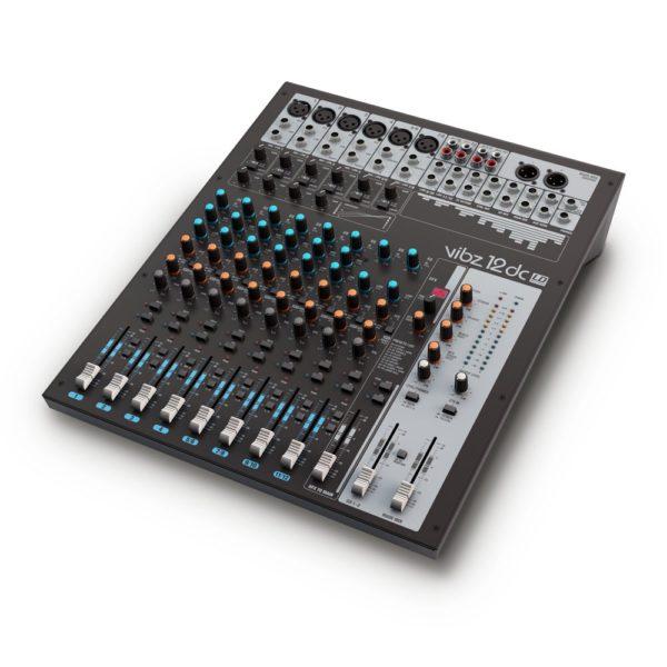 Mesa de mezclas de 12 canales con sección de efectos digitales y compresor (VIBZ 8 dc) - LD Systems