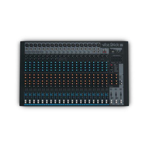 Mesa de mezclas de 24 canales con sección de efectos digitales y compresor (VIBZ 8 dc) - LD Systems