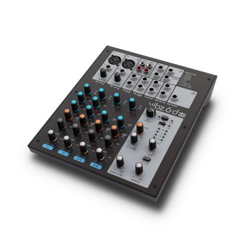 Mesa de mezclas de 6 canales con sección de efectos digitales (VIBZ 6 D) - LD Systems