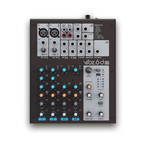 Mesa de mezclas de 10 canales con compresor (VIBZ 10 C) - LD Systems